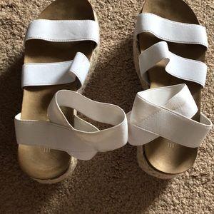 Esprit white sandals size 6m